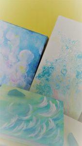 人蜜(ひとみ)柴田人蜜 画家・アーティスト空間演出ライブアーティスト(ソーシャルディスタンスアート・アクリル板アート)ひとみつ ひとみ しばたひとみ柴田人蜜(現代抽象画家)かくばりゆきえ角張由紀恵